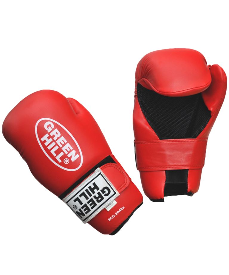 GREEN HILL Накладки для карате 7-contact  SCG-2048: красный - 1