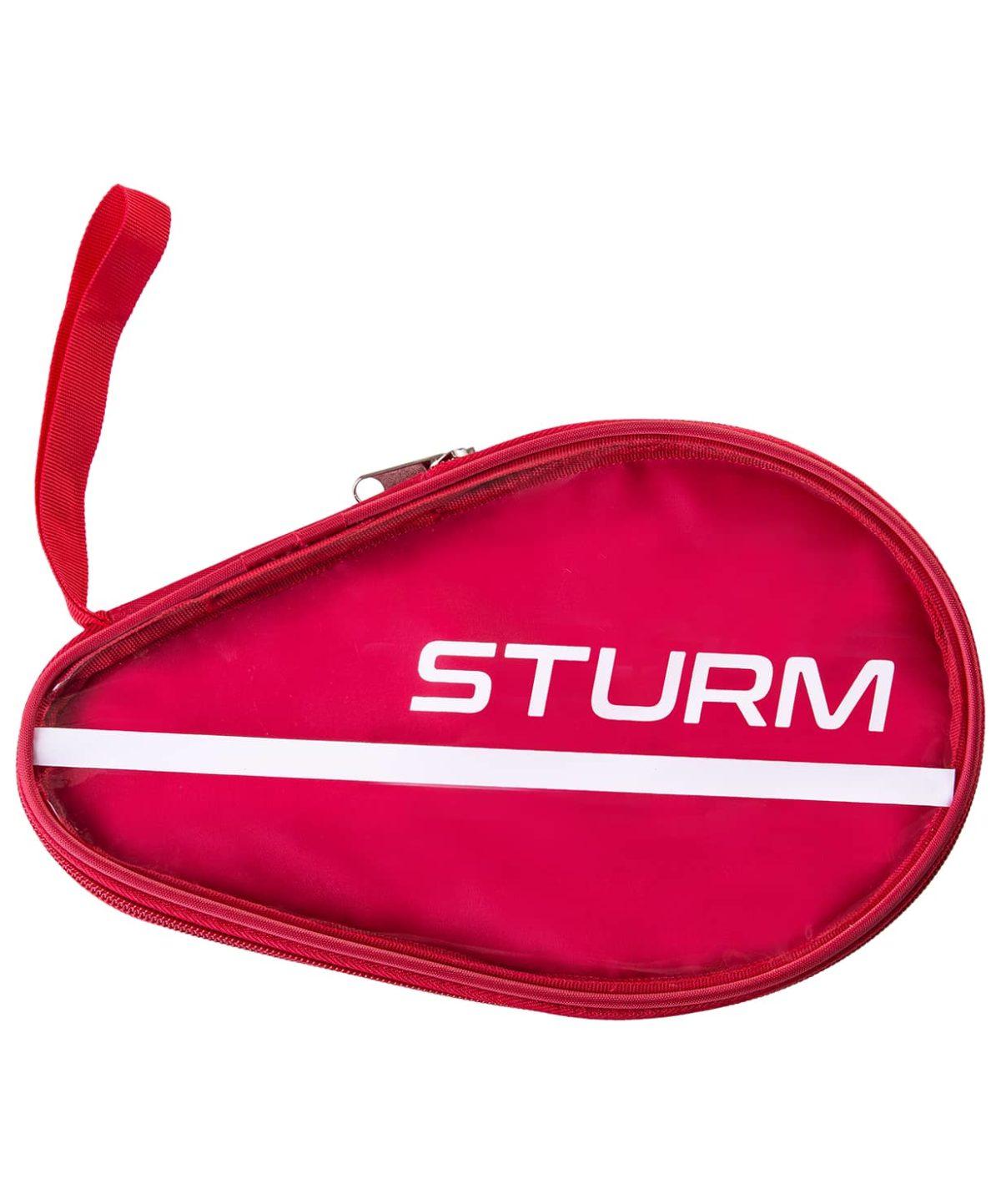 STURM Чехол для ракетки для настольного тенниса  CS-02: красный/прозрачный - 1