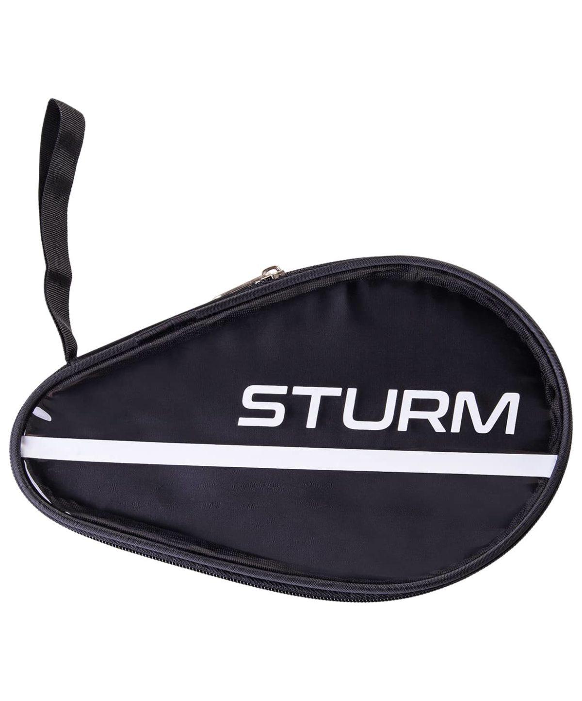 STURM Чехол для ракетки для настольного тенниса  CS-02: черный/прозрачный - 1