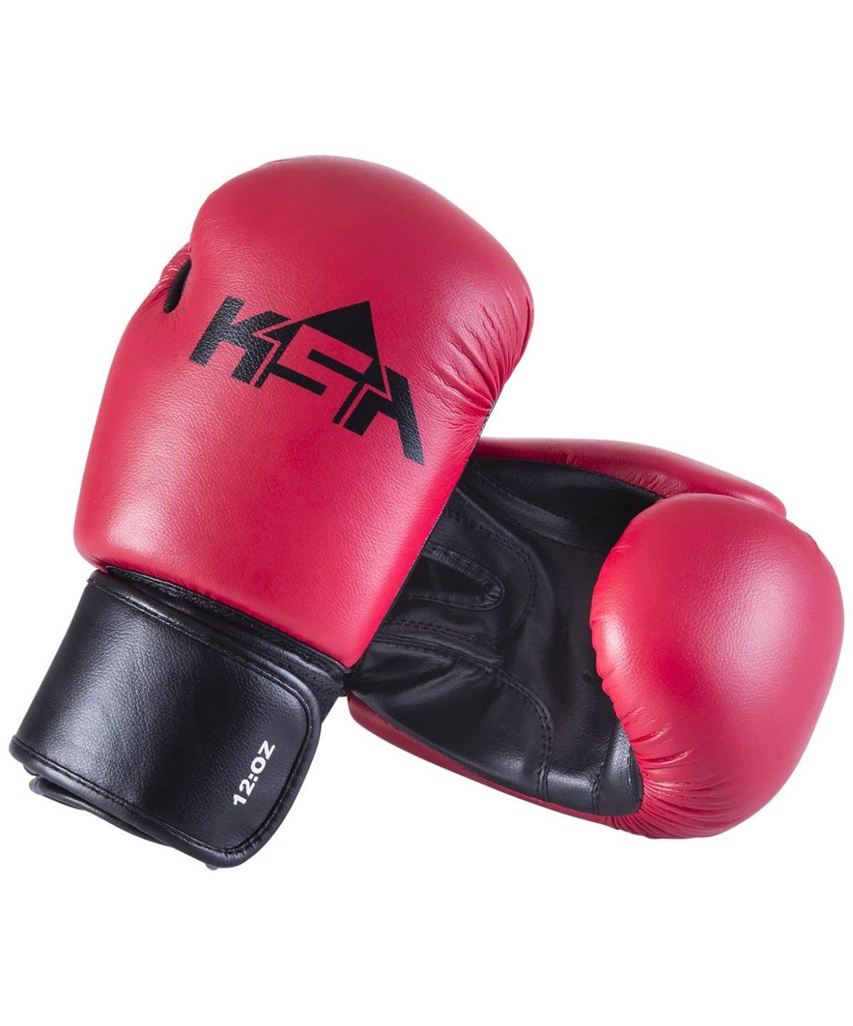 KSA Spider Red Перчатки боксерские, 8 oz, к/з 17811: красный - 1