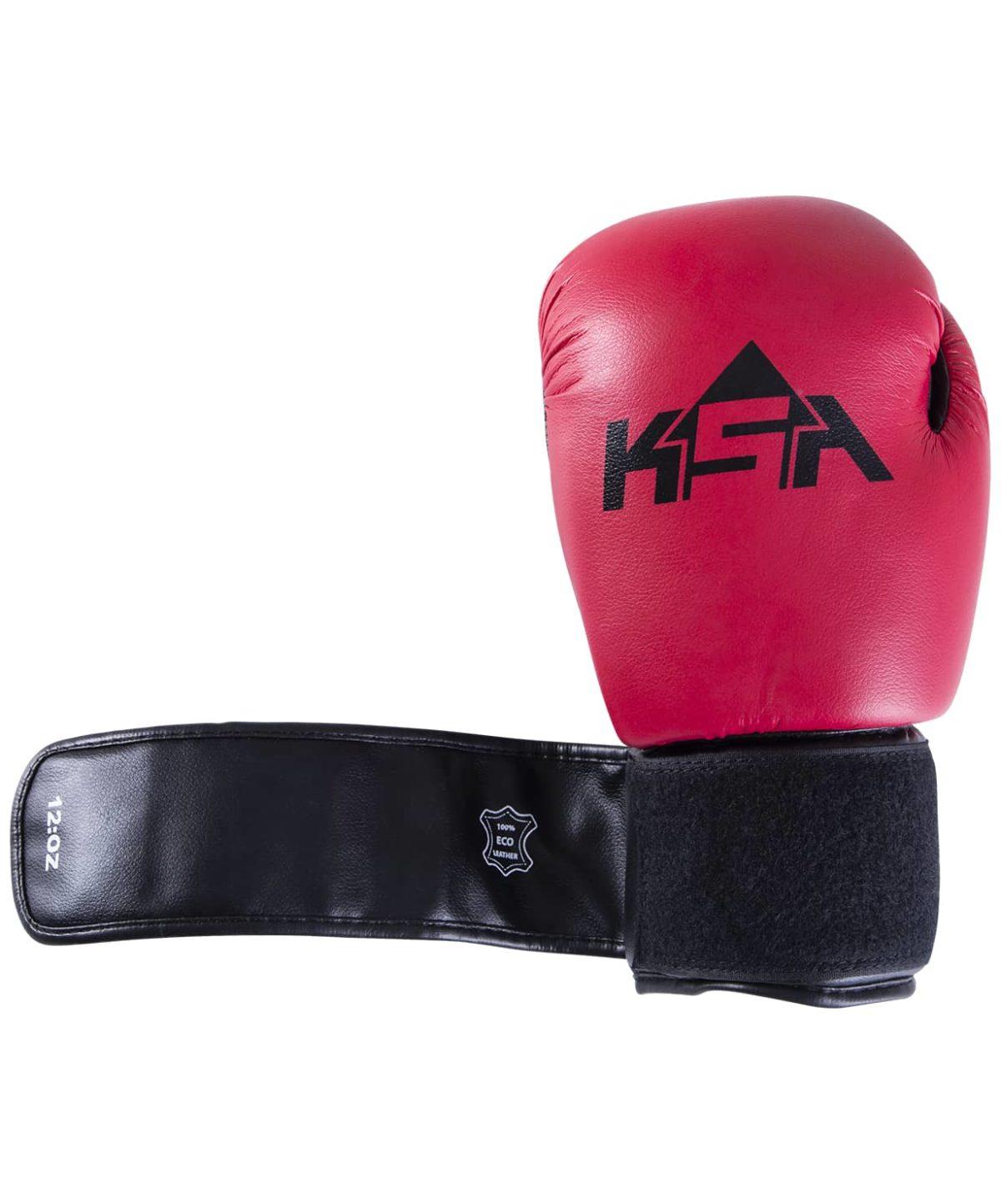 KSA Spider Red Перчатки боксерские, 8 oz, к/з 17811: красный - 2