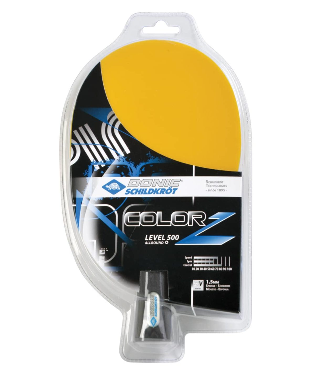DONIC Schildkrot Color Z Yellow Ракетка для настольного тенниса  18115 - 1