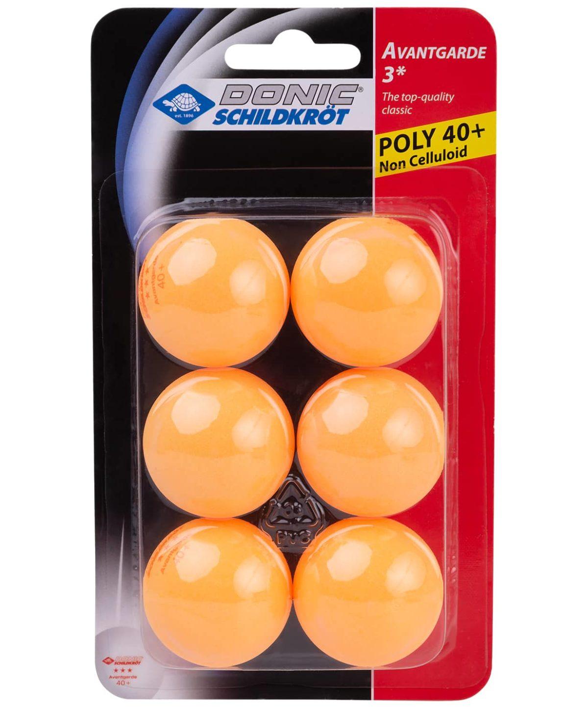 DONIC Schildkroet Avantgarde 3*** Мяч для настольного тенниса  608530: оранжевый - 1