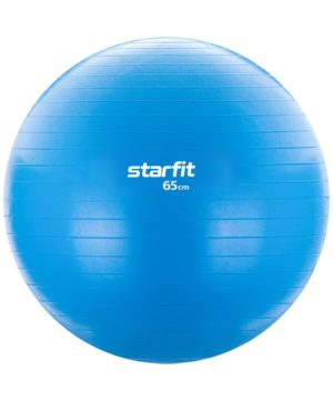 STARFIT Фитбол антивзрыв 65см.1000гр. без насоса GB-104: голубой - 12