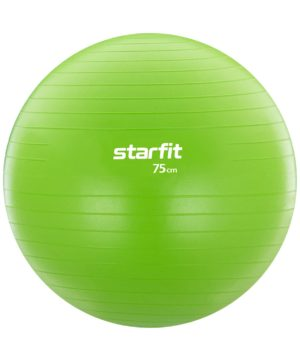 STARFIT Фитбол антивзрыв 75 см 1200 гр, без насоса GB-104: зелёный - 17