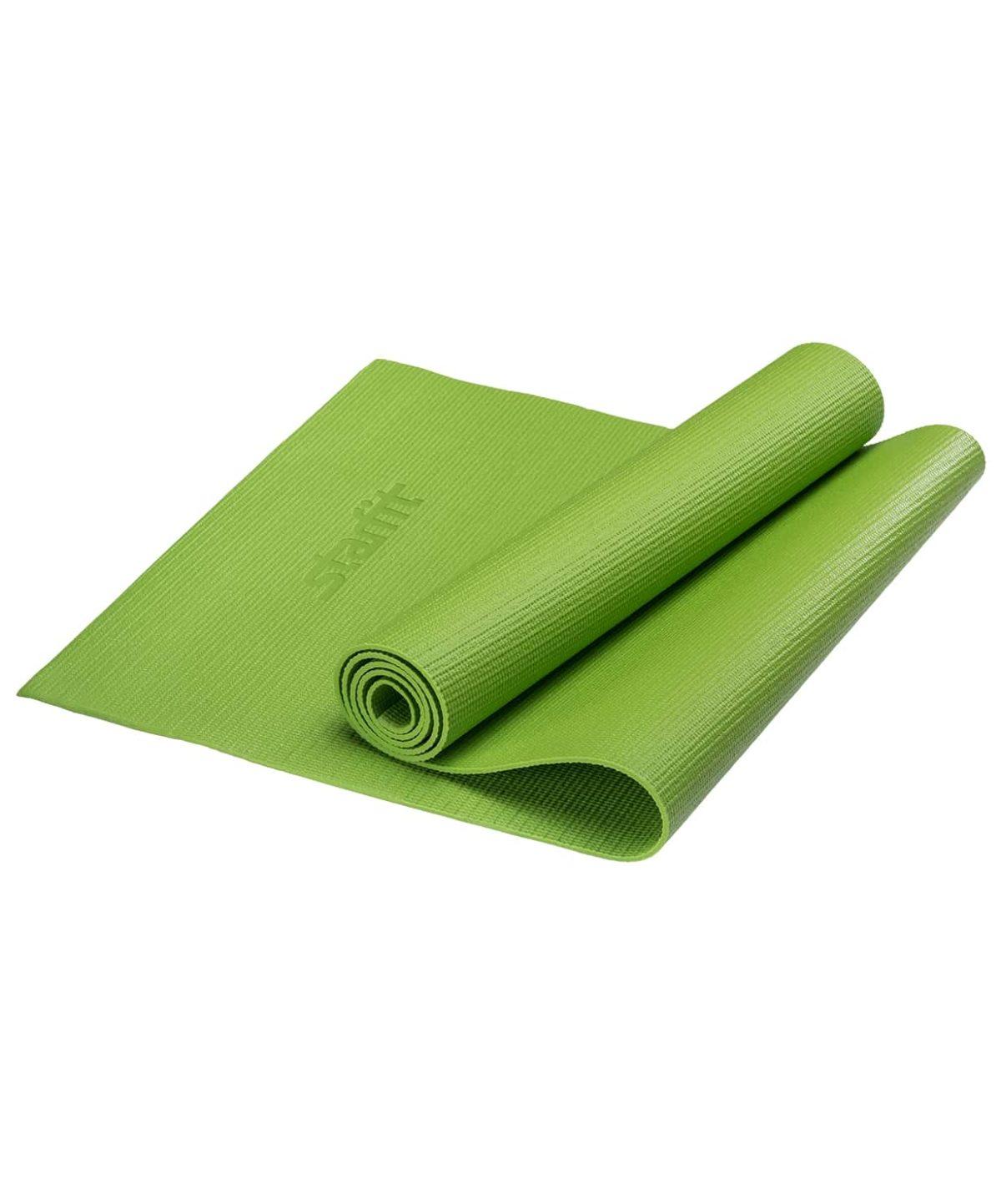 STARFIT Коврик для йоги FM-101 173х61х0,8см: зелёный - 1