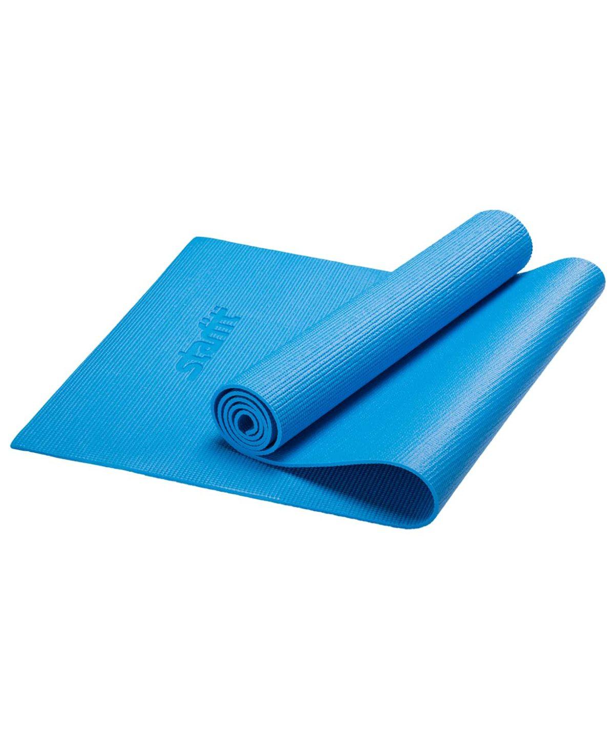 STARFIT Коврик для йоги FM-101 173х61х0,8см: синий - 2
