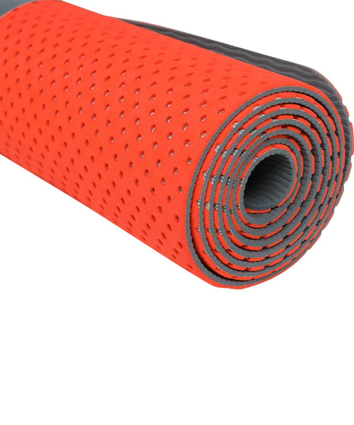 STARFIT Коврик для йоги, перфорированный FM-202 173х61х0,5 см: ярко-красный - 2