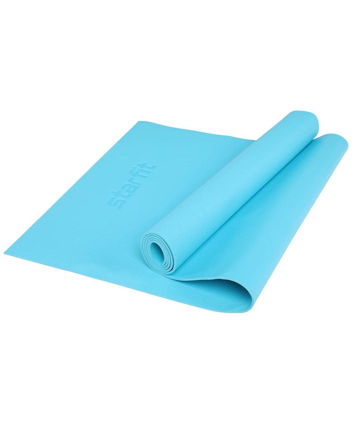 STARFIT Коврик для йоги FM-103 173х61х0,4 см: голубой - 1