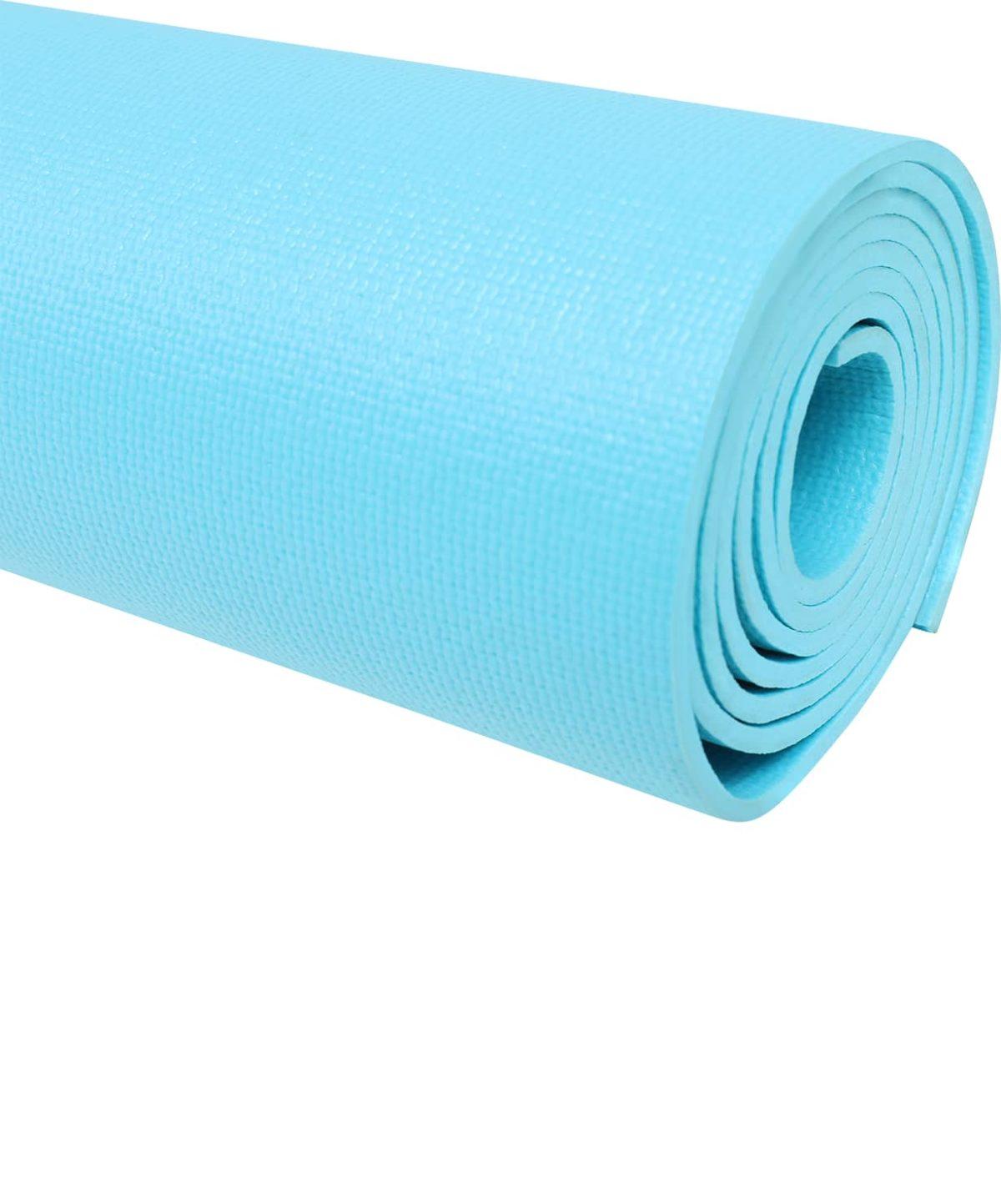 STARFIT Коврик для йоги FM-103 173х61х0,4 см: голубой - 2