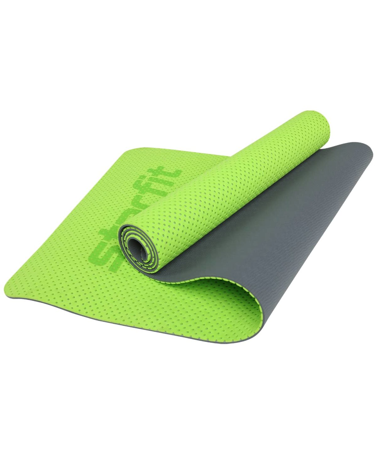 STARFIT Коврик для йоги, перфорированный FM-202 173х61х0,7 см: ярко-зеленый - 1