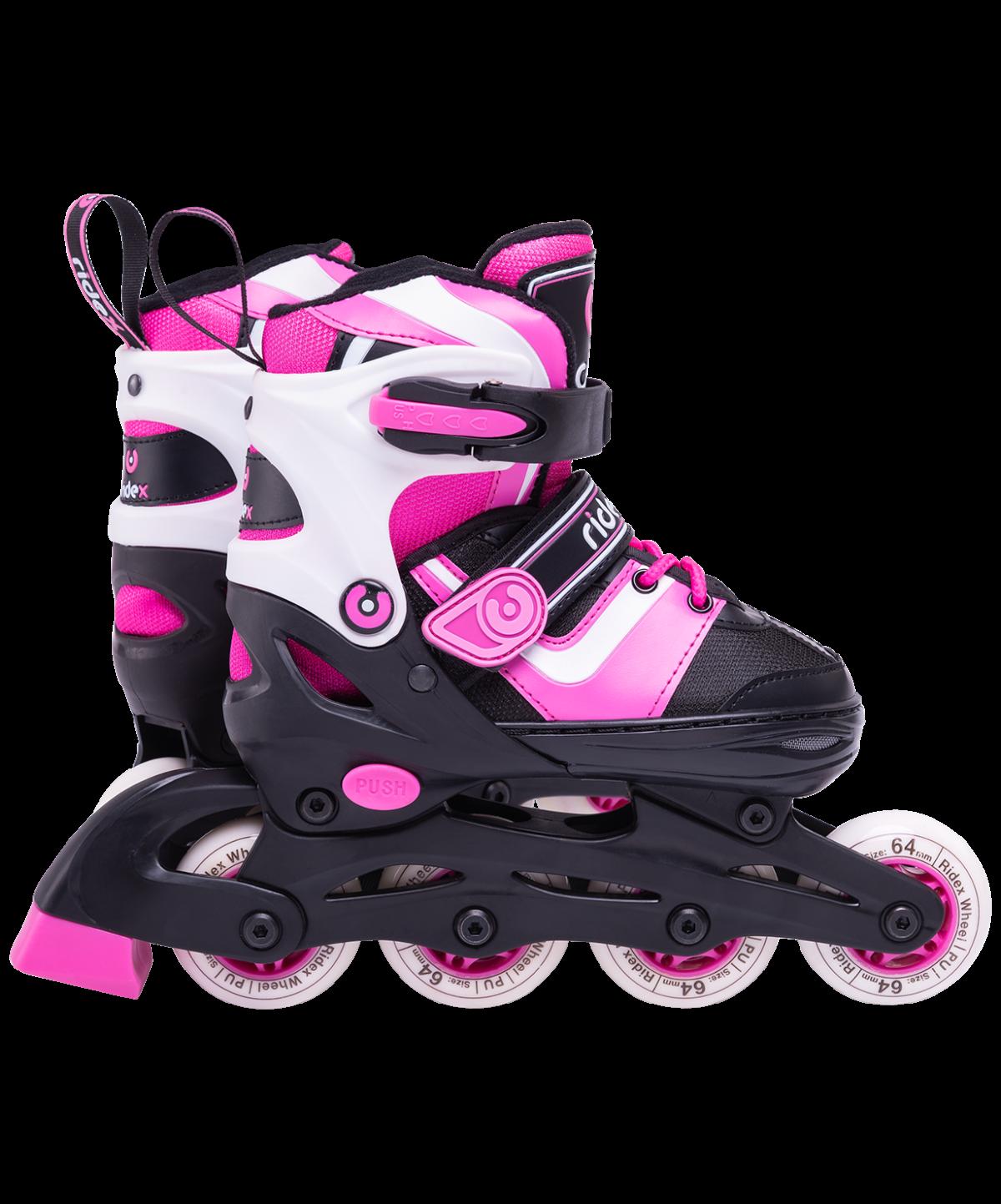RIDEX Ролики раздвижные Joker Pink - 1