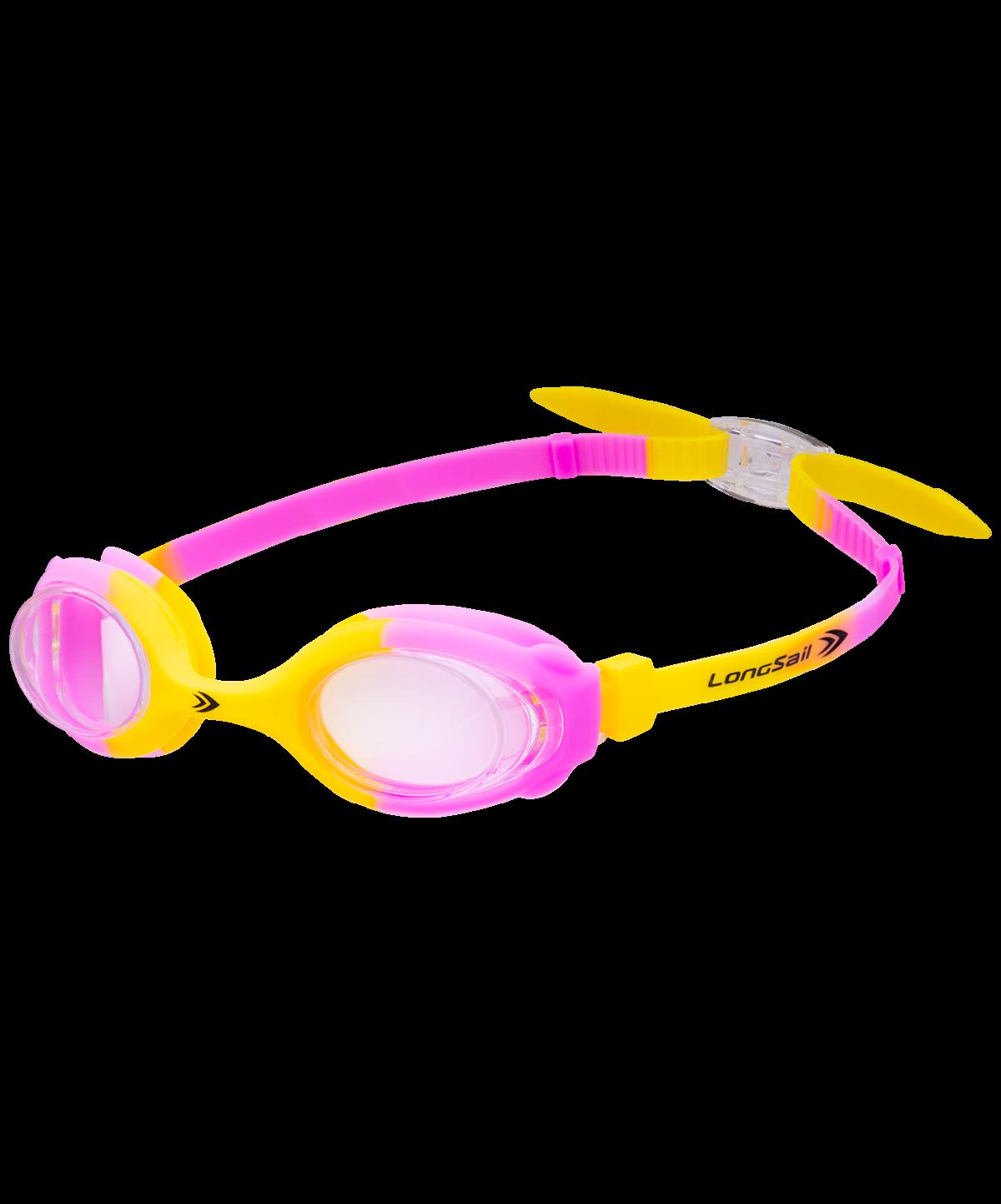 LONGSAIL Kids Crystal Очки для плавания  L041231: желтый/розовый - 1