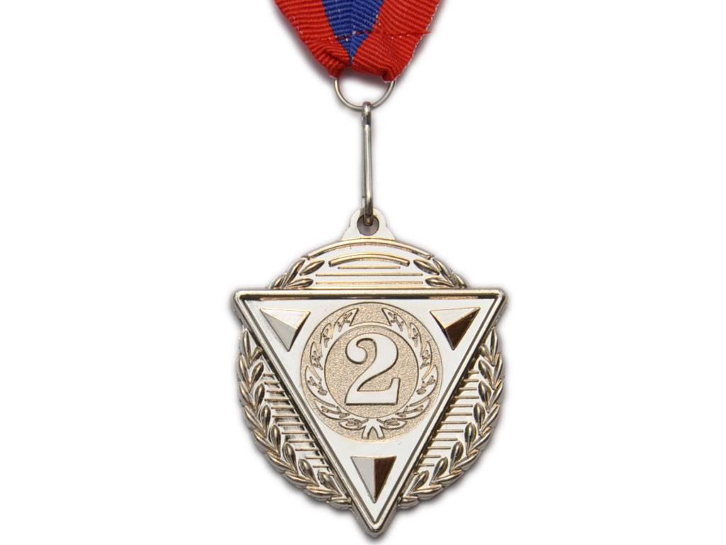 """Медаль с лентой """"Россия""""  5502: серебро - 1"""