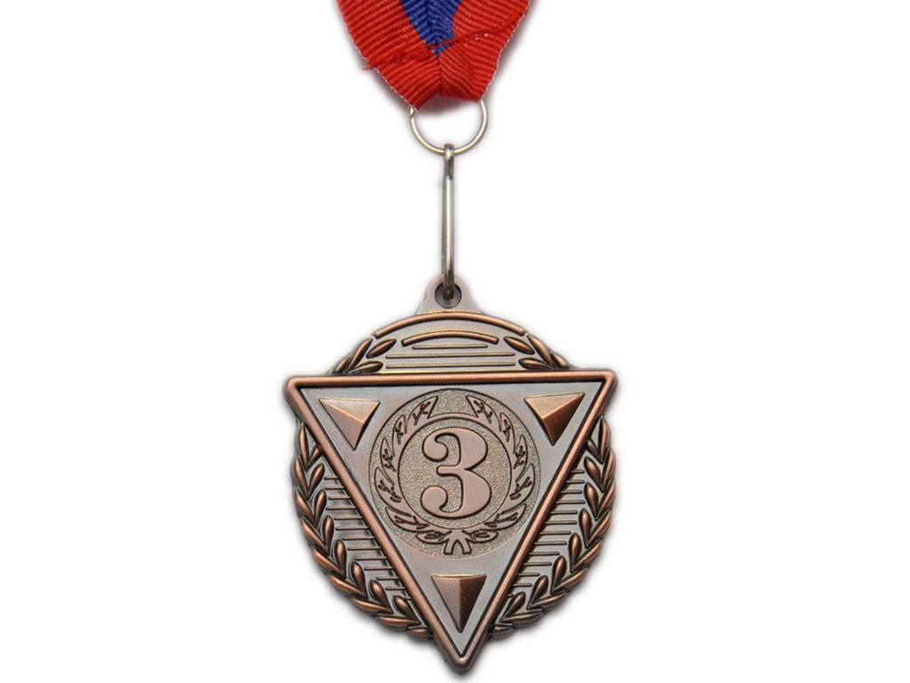 """Медаль с лентой """"Россия""""  5502: бронза - 1"""