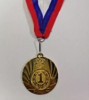 Медаль наградная с лентой  1501: золото - 9