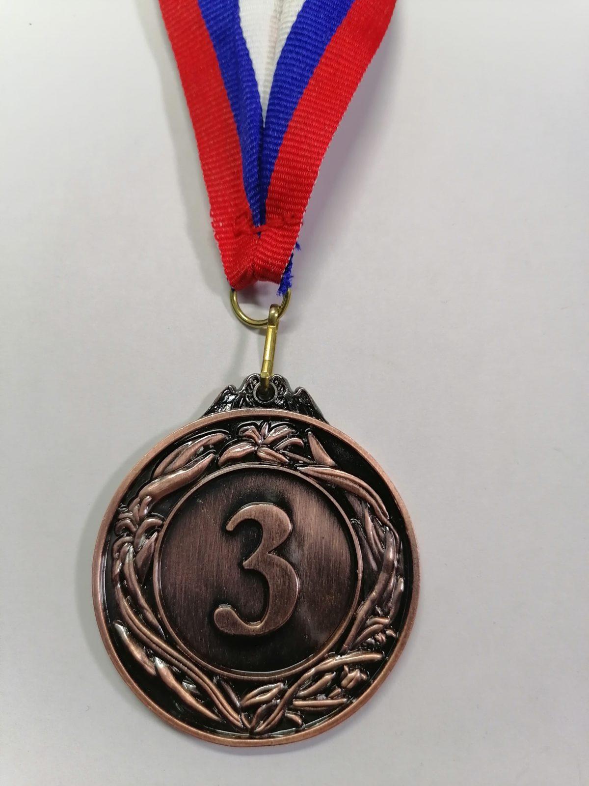 """Медаль с лентой """"Россия""""  22122: бронза - 1"""