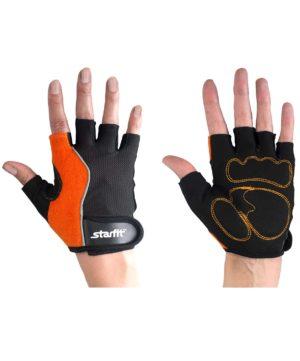 STARFIT Перчатки для фитнеса SU-108  : оранжевый/чёрный - 14