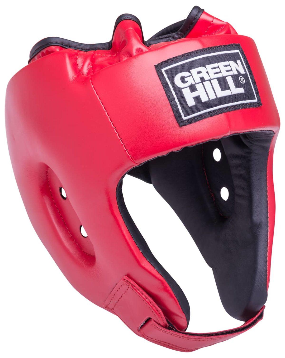 GREEN HILL Шлем открытый Alfa  HGA-4014: красный - 1