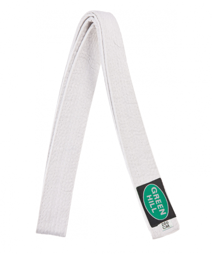 GREEN HILL Пояс для единоборств  KBO-1014: белый - 1