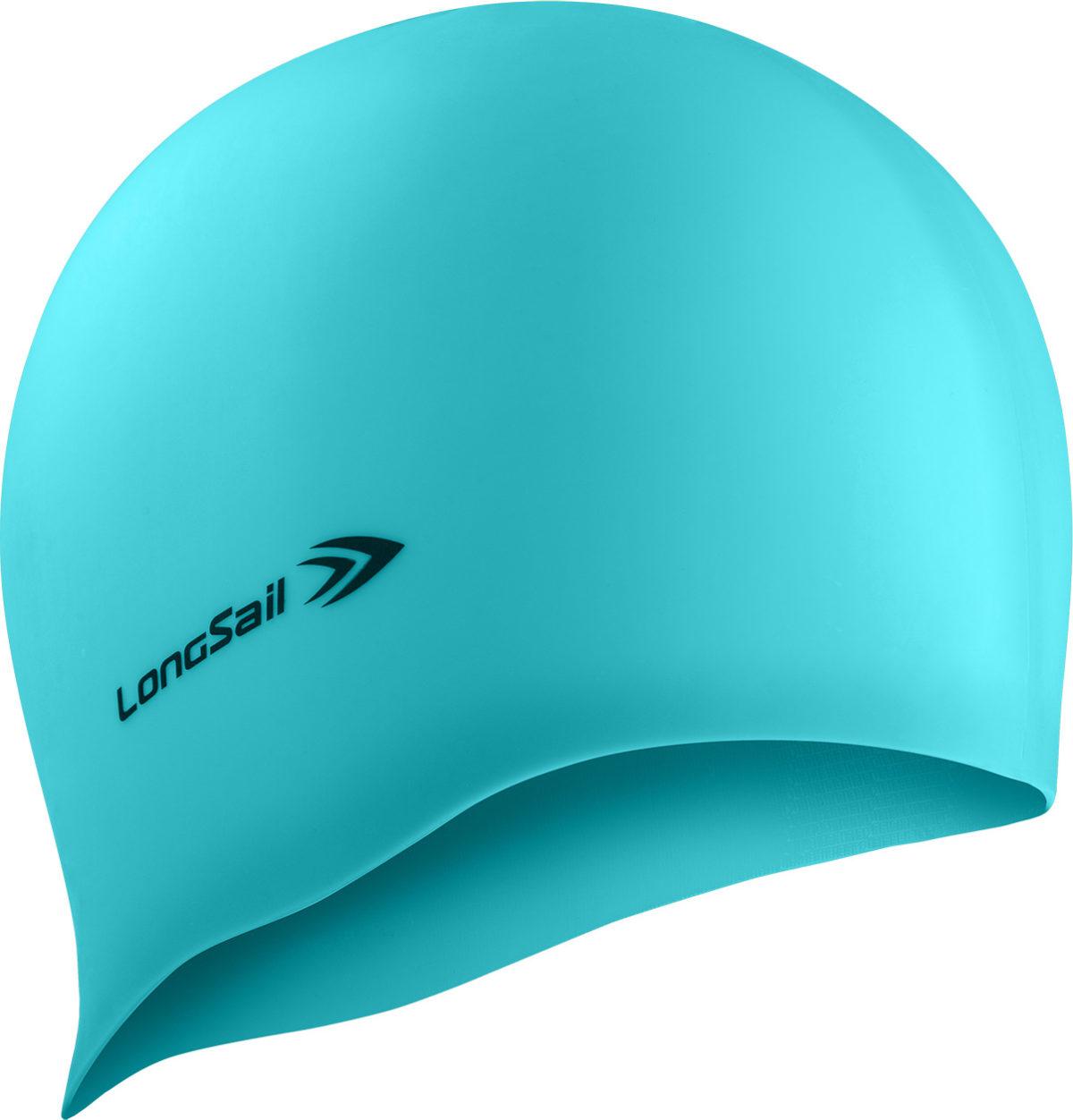 LONGSAIL  Шапочка для плавания силикон: морская волна - 1