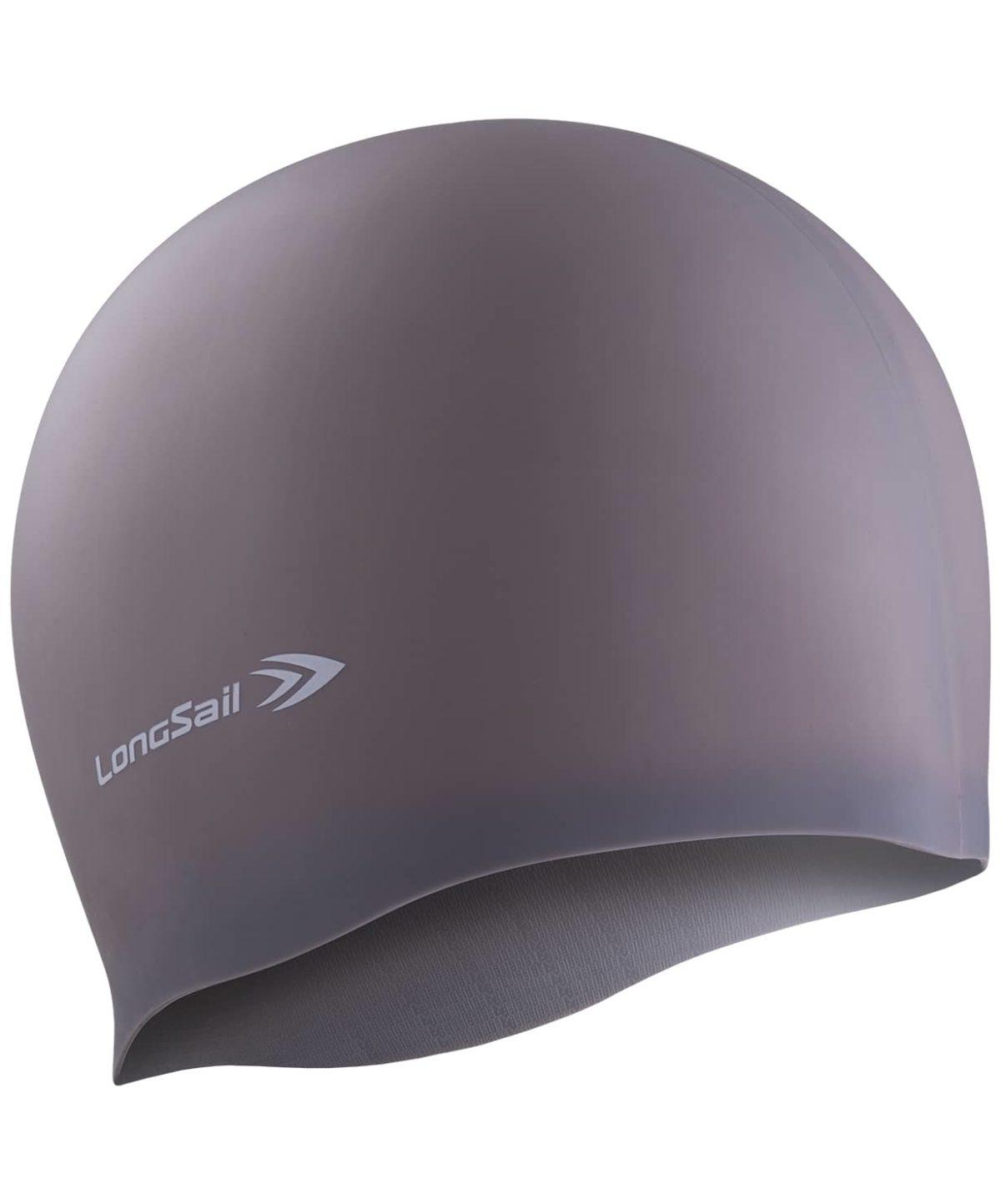 LONGSAIL  Шапочка для плавания силикон: серый - 1