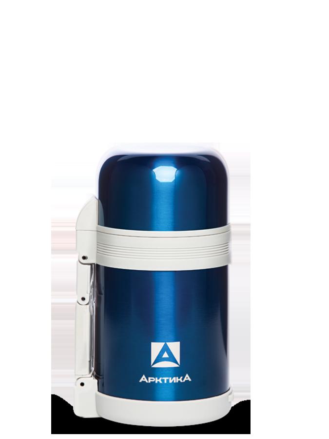 АРКТИКА Термос с широким горлом классический 1000 мл  202-1000: синий - 1