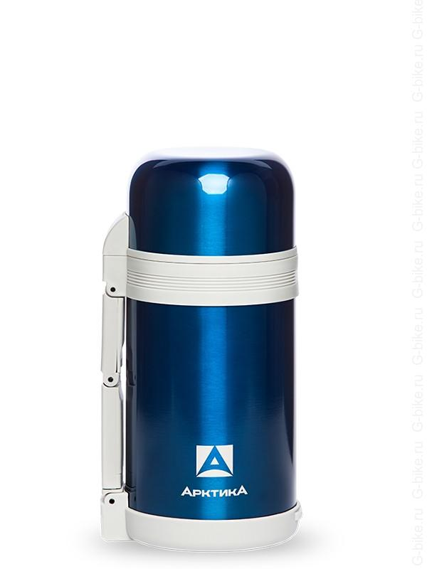 АРКТИКА Термос с широким горлом классический 800 мл  202-800: синий - 1
