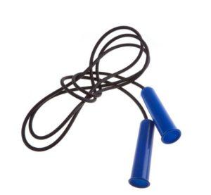 Скакалка резиновая с пластмассовой ручкой 2,85 м  2226: чёрный/синий - 14