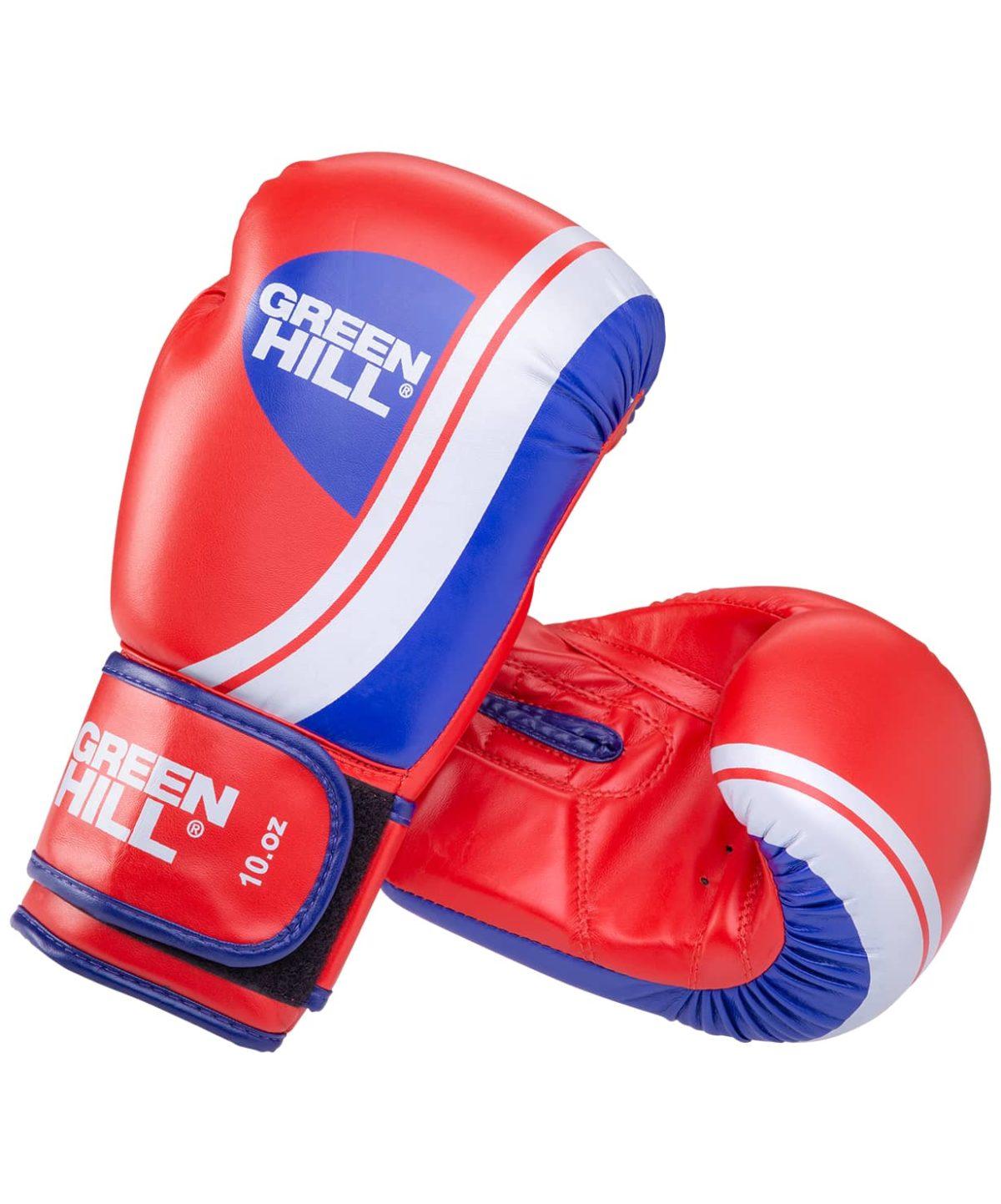 GREEN HILL Перчатки боксерские 8 oz Knockout  BGK-2266: красный - 1