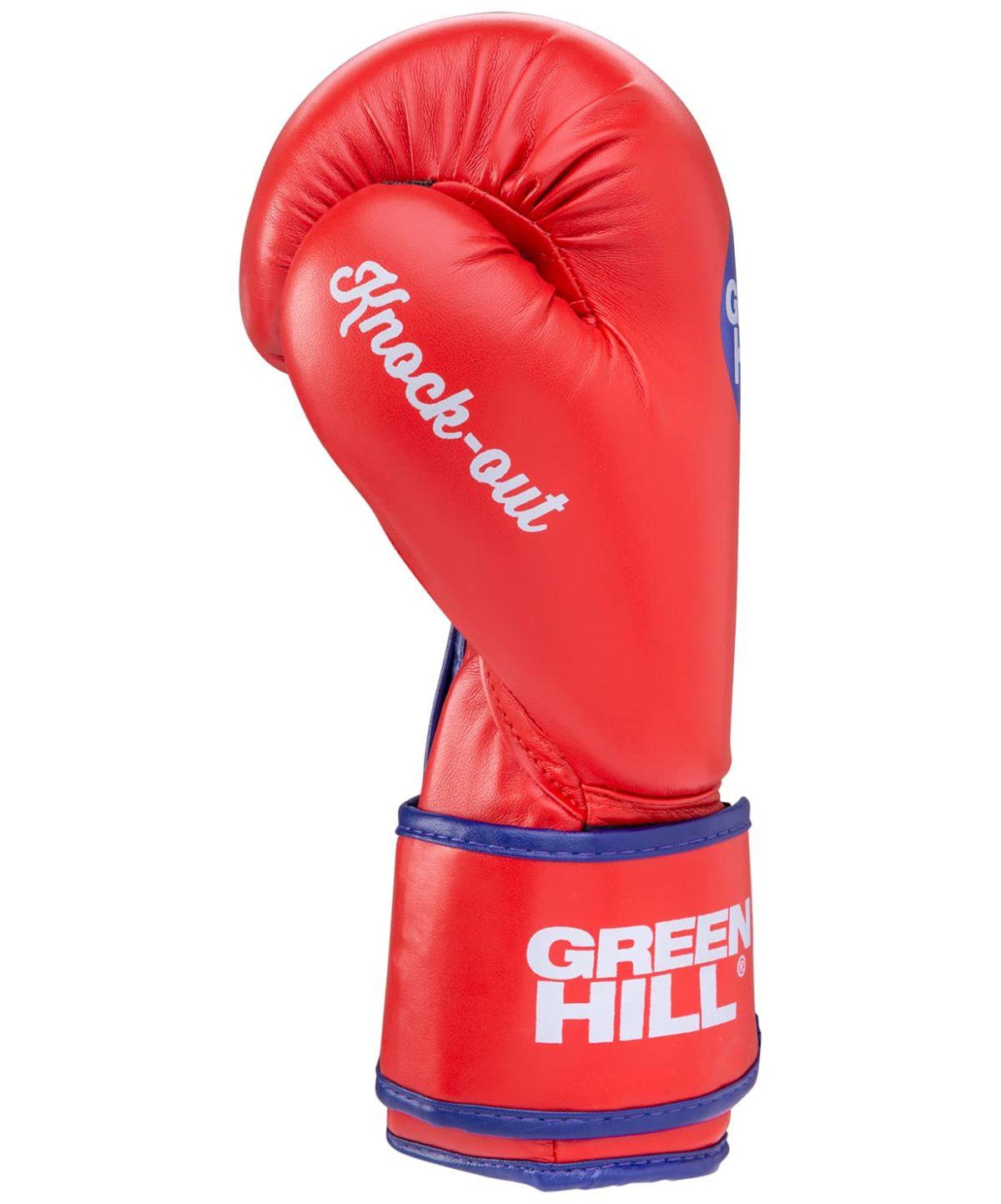 GREEN HILL Перчатки боксерские 8 oz Knockout  BGK-2266: красный - 3