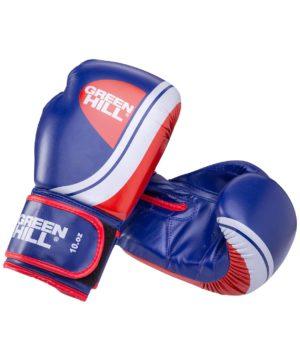 GREEN HILL Перчатки боксерские 12 oz Knockout  BGK-2266: синий - 10