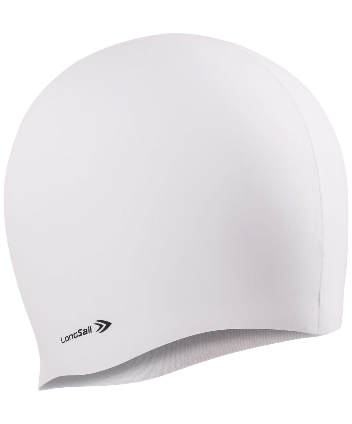 LONGSAIL  Шапочка для плавания силикон: белый - 1