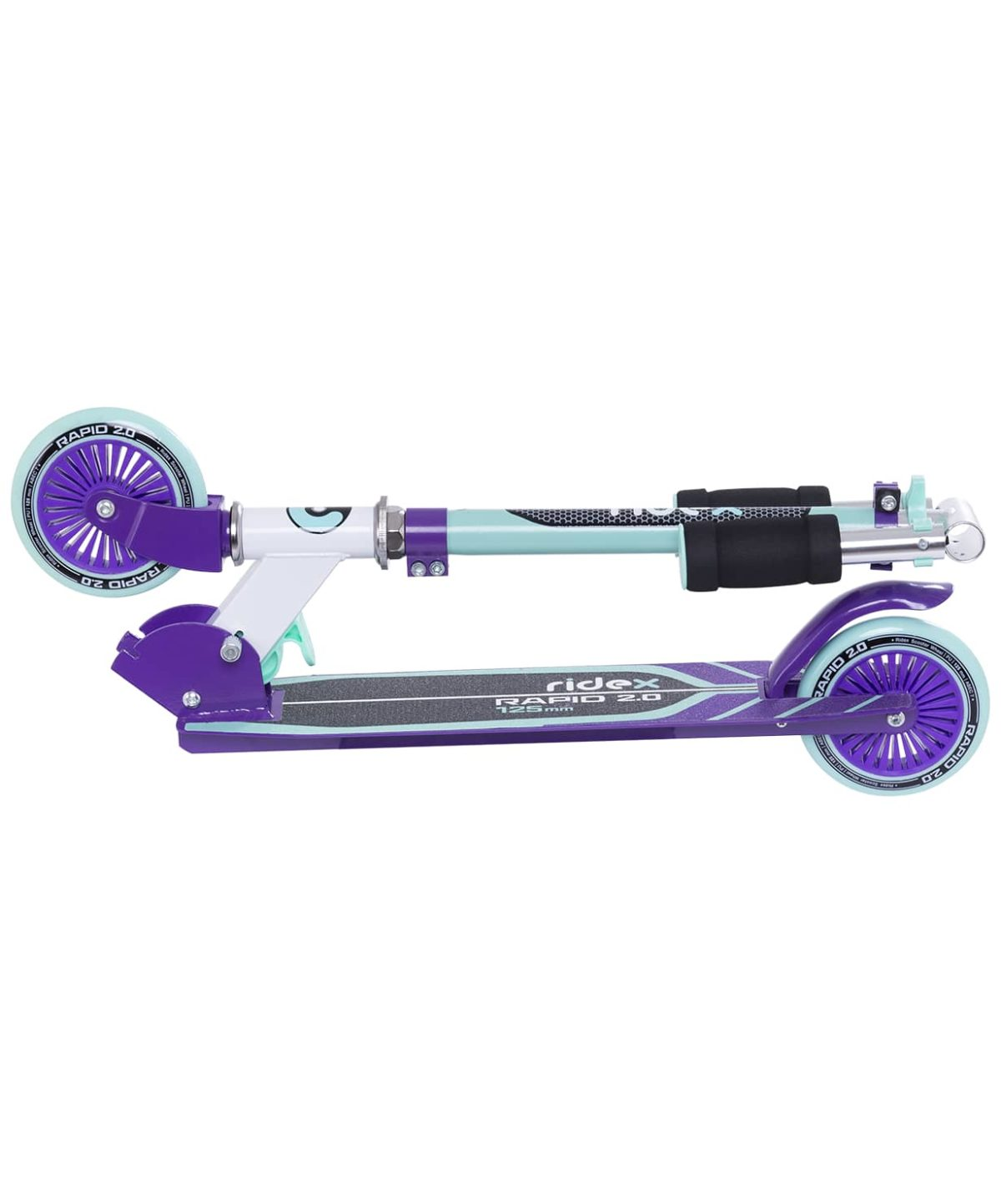 RIDEX Rapid 2 Самокат 2-х колес.  125 мм  Rapid: мятный/фиолетовый - 3