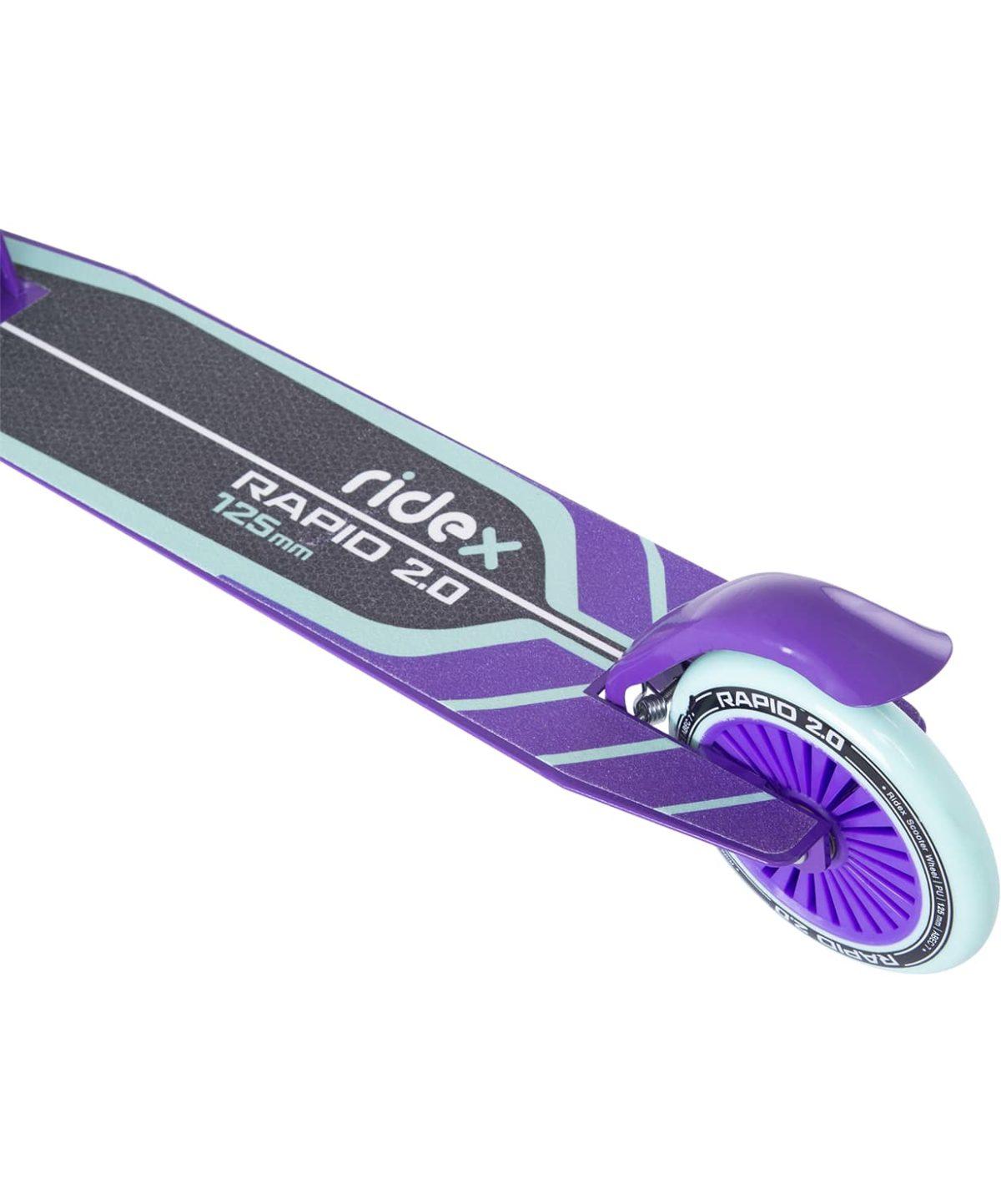 RIDEX Rapid 2 Самокат 2-х колес.  125 мм  Rapid: мятный/фиолетовый - 5
