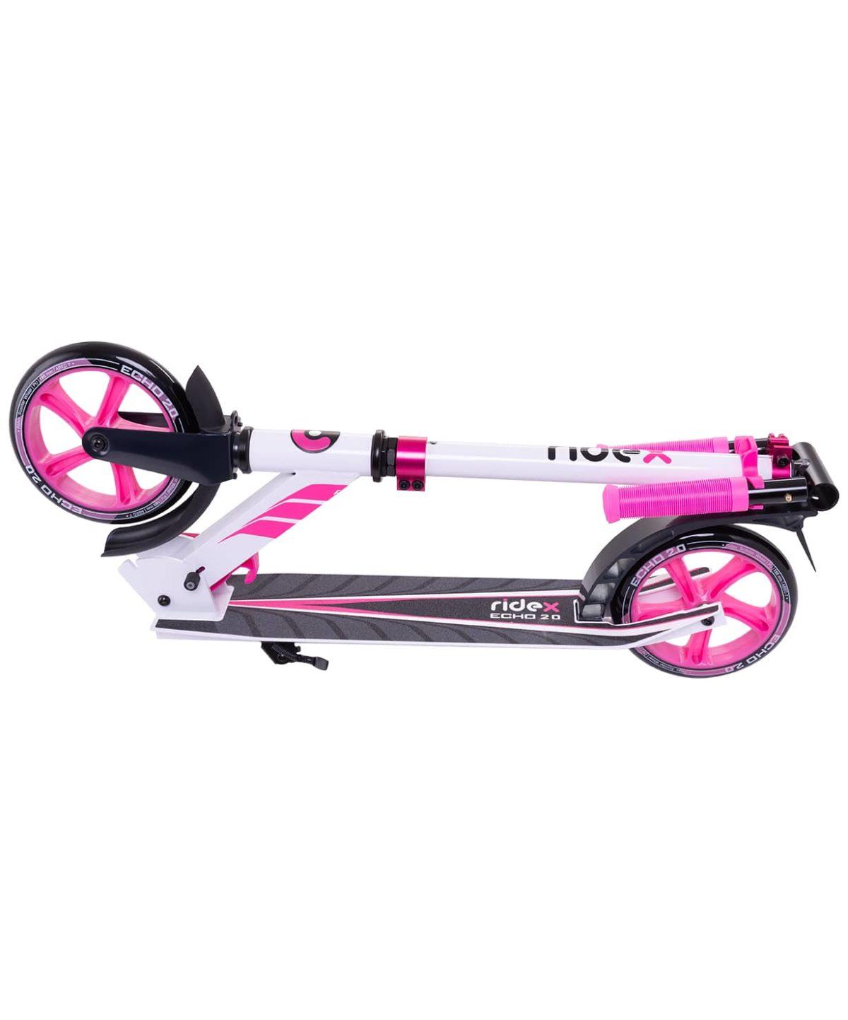 RIDEX Echo Самокат 2-х колесный 180 мм  Echo: белый/розовый - 4