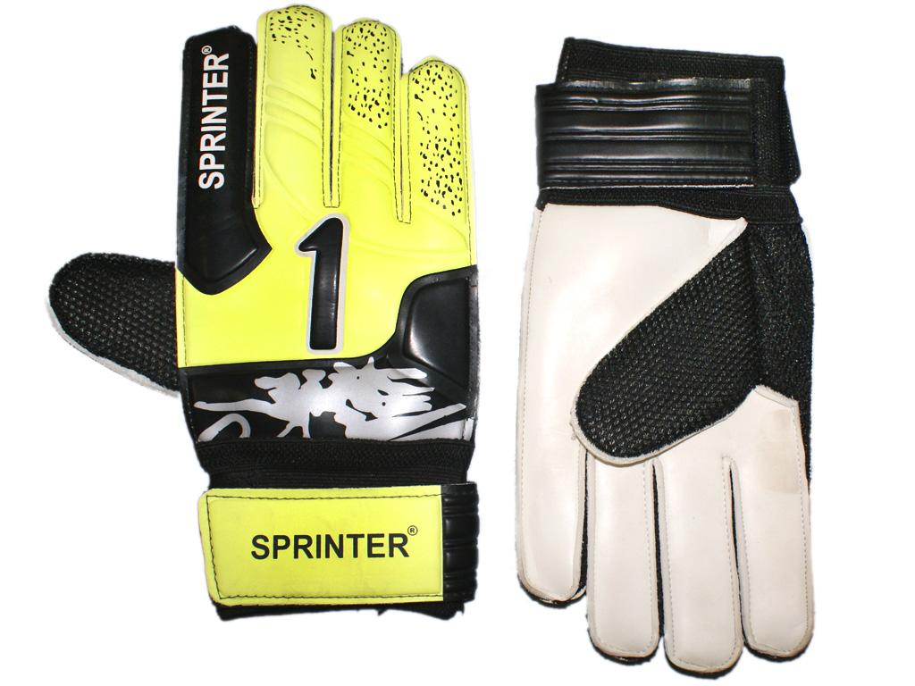 SPRINTER Перчатки вратарские с усилителем  31619: жёлтый - 1