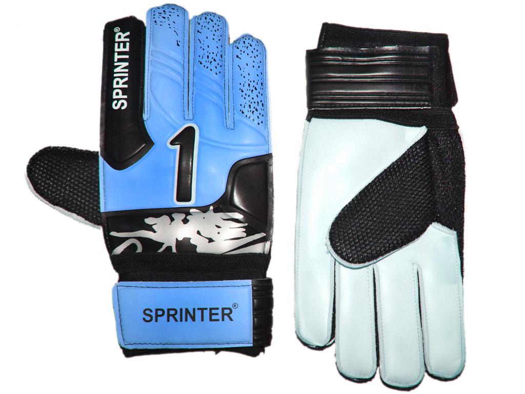 SPRINTER Перчатки вратарские с усилителем  31619: синий - 1