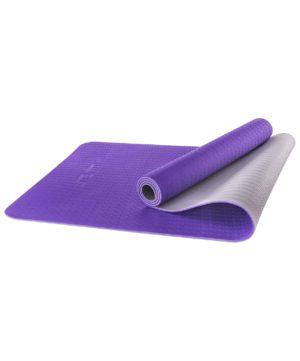 STARFIT Коврик для йоги FM-201 173х61х0,5 см: фиолетовый/серый - 5