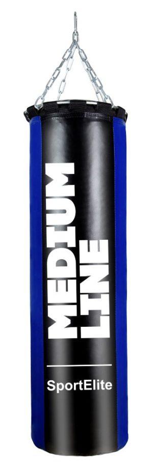 SPORT ELITE Medium line Мешок боксерский  120 см, d-34, 45кг  ML-45BB: синий/черный - 19