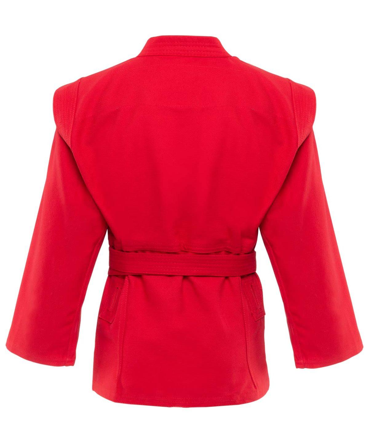 GREEN HILL Куртка для самбо 0/130  JS-302: красный - 2