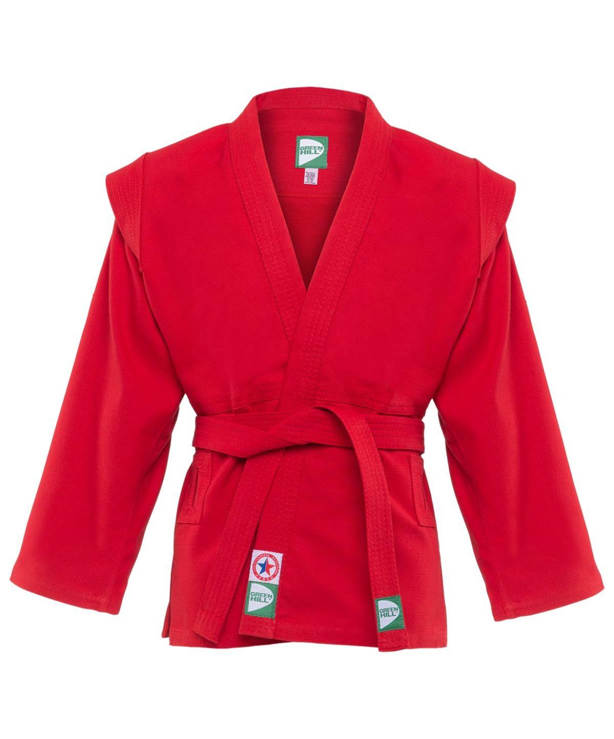 GREEN HILL Куртка для самбо 1/140  JS-302: красный - 1