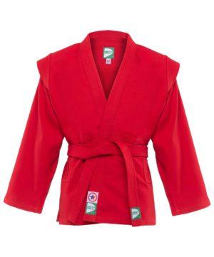 GREEN HILL Куртка для самбо 1/140  JS-302: красный - 6