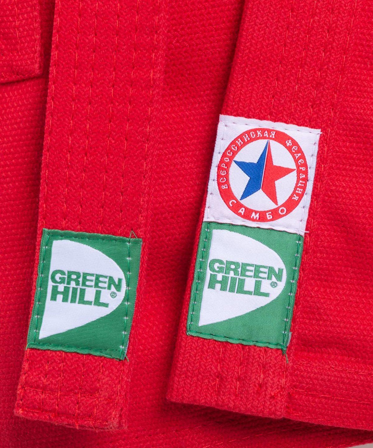 GREEN HILL Куртка для самбо 1/140  JS-302: красный - 3