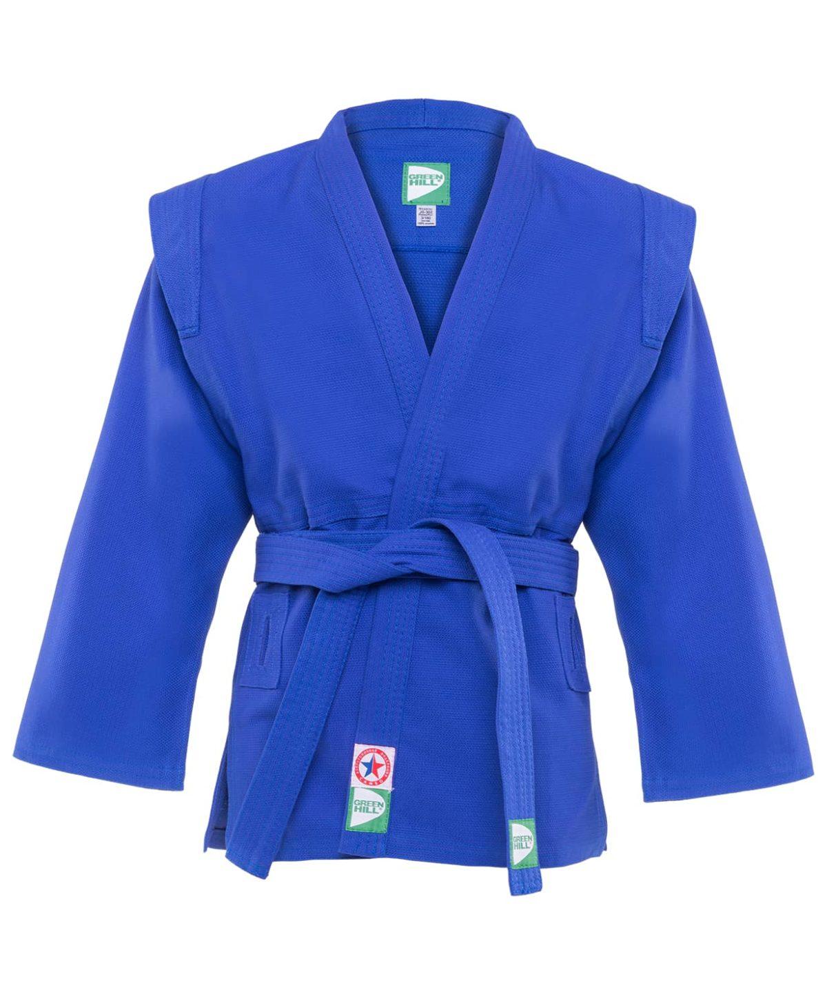 GREEN HILL Куртка для самбо 1/140  JS-302: синий - 1