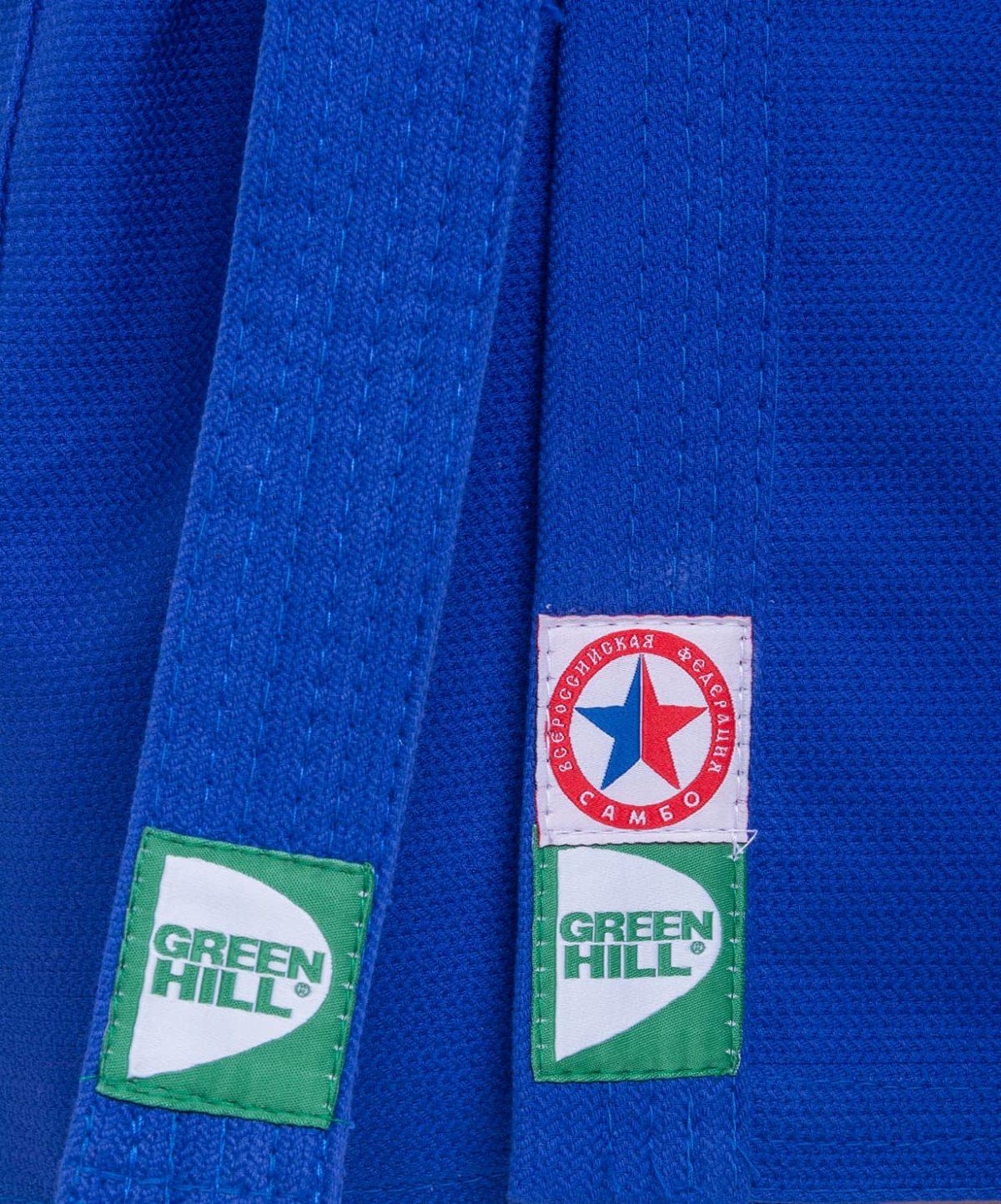 GREEN HILL Куртка для самбо 1/140  JS-302: синий - 3