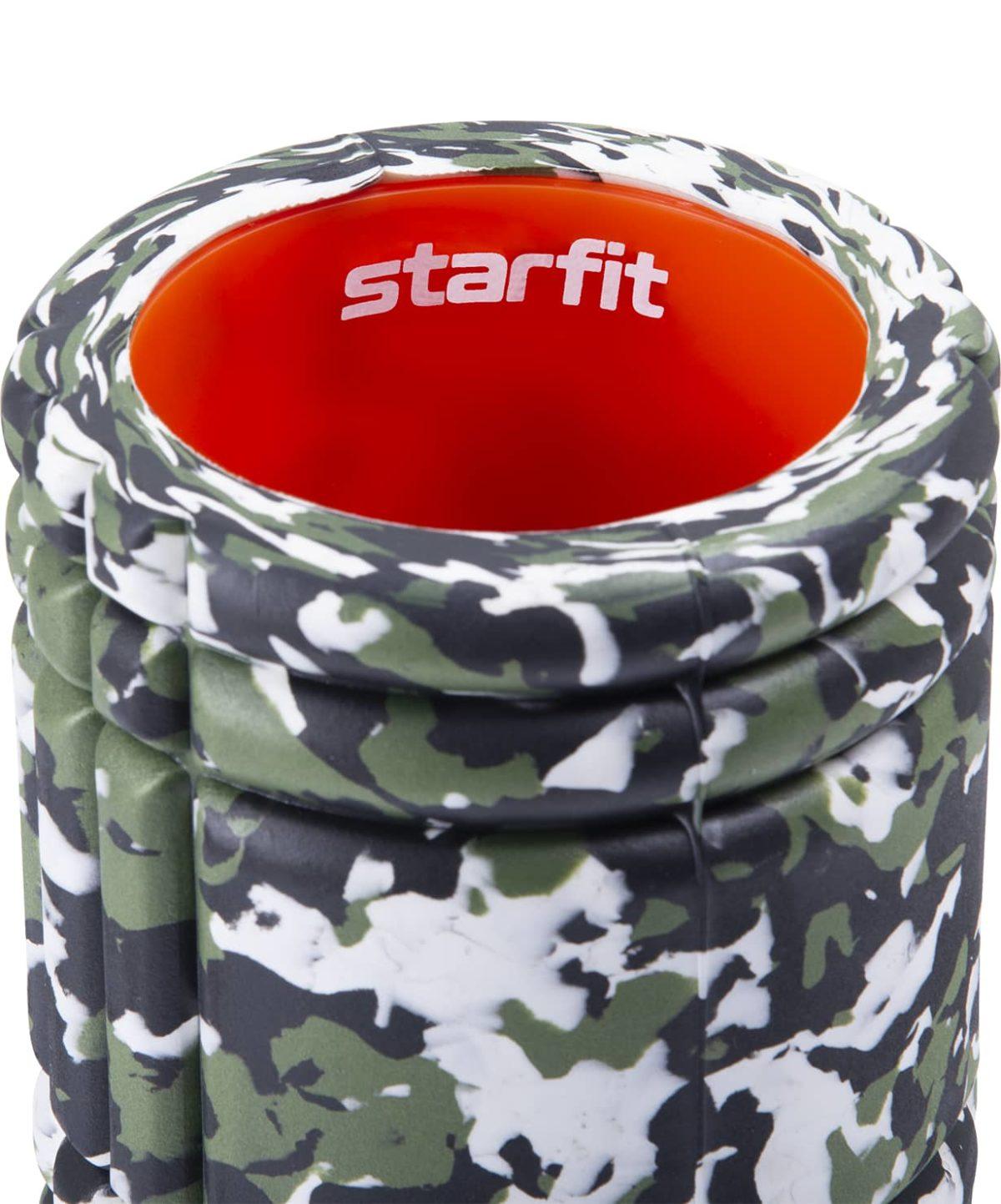 STARFIT Ролик массажный FA-508: зеленый камуфляж/оранжевый - 3