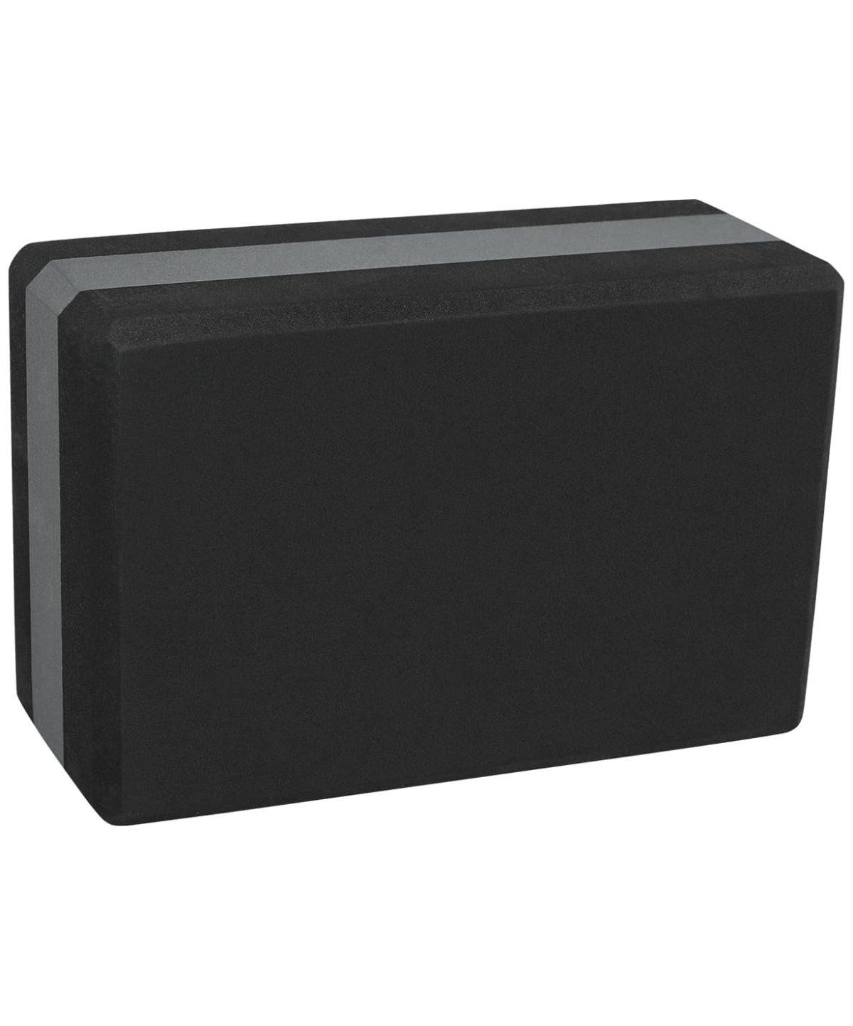 STARFIT EVA Блок для йоги  YB-201: черно-серый - 2