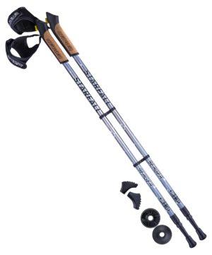 BERGER Starfall Палки для скандинавской ходьбы, 77-135 см: серый/чёрный/белый - 6