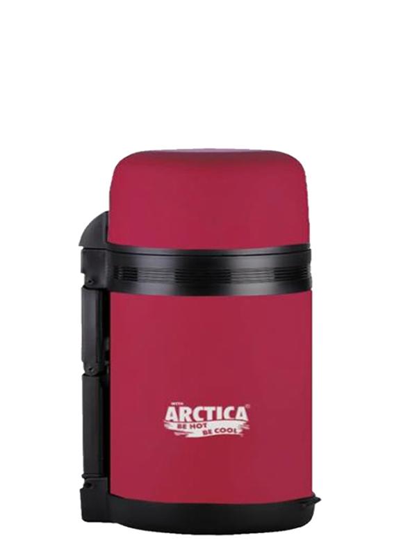 АРКТИКА Термос с широким горлом с прорезиненным напылением 800 мл  203-800: красный - 1